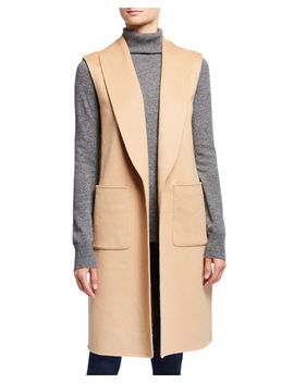 Double Face Cashmere Shawl Collar Vest by Neiman Marcus Cashmere Collection