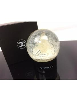 auth-chanel-cc-logos-snow-globe-dome-object-glass-white-7k230020r* by chanel
