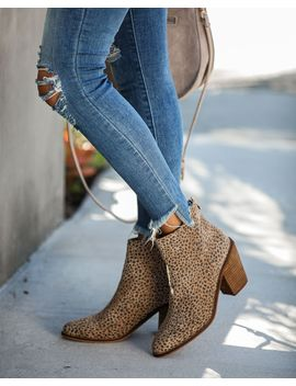 Unstoppable Leopard Heeled Bootie by Vici