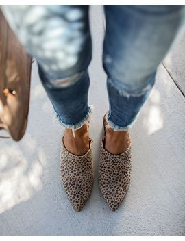 Giovanni Leopard Heeled Mule by Vici