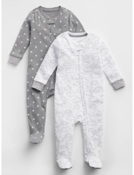 Baby Print Footed One Piece (2 Pack) by Gap