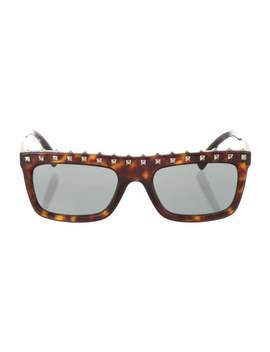 Rockstud Tortoise Shell Sunglasses by Valentino