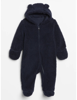 Baby Sherpa Hoodie One Piece by Gap