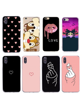 For Iphone 11 Pro X 6 5 5s Se Case For Fundas Iphone 6s 6 S Xs Max Xr 8 7 Plus Case Cover Soft Heart Love Black Pink Phone Case by Ali Express.Com
