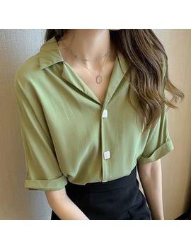 Vinales   Short Sleeve Plain Blouse by Vinales