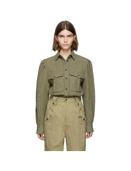 Green Wool Florrie Pocket Shirt by Isabel Marant