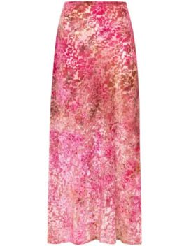 Tie Dyed Burnout Midi Skirt by Collina Strada
