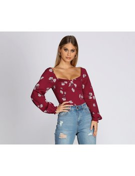 Floral Sweetheart Top by Windsor