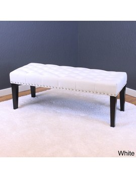 Silver Orchid Orla Velvet Bench   White by Silver Orchid