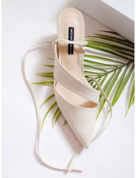Line Strap Mule Sandal Heel by Mol:Pin
