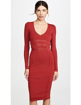Deep V Midi Dress by Good American