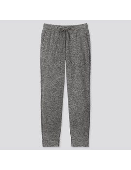 Men Fluffy Yarn Fleece Easy Pants by Uniqlo