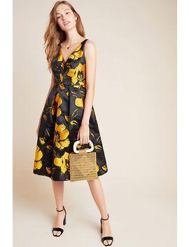Eileen Jacquard Floral Midi Dress by Eva Franco