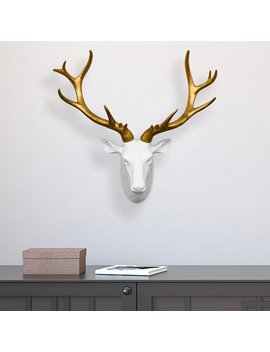 Mule Deer Gold Antler Wall Décor by Happy Larry