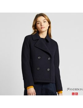 Women Jw Anderson Short Pea Coat by Uniqlo
