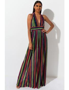 Be Like Me Multi Color Maxi Dress by Akira
