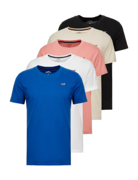 Seasonal Crew 5 Pack   T Shirt Basic by Hollister Co.