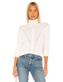 Mock Neck Cable Stitch Sweater by Autumn Cashmere