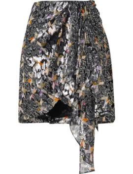 Ixora Draped Silk And Lurex Blend Jacquard Mini Skirt by Isabel Marant