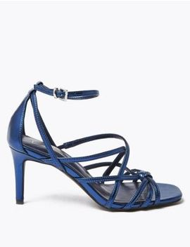 Metallic Multi Strap Stiletto Heel Sandals by Marks & Spencer