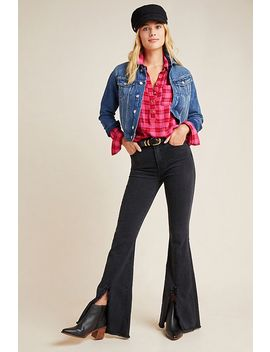 7 For All Mankind High Rise Frayed Kick Flare Jeans by 7 For All Mankind