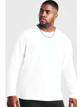 Big And Tall Basic Long Sleeve T Shirt by Boohoo