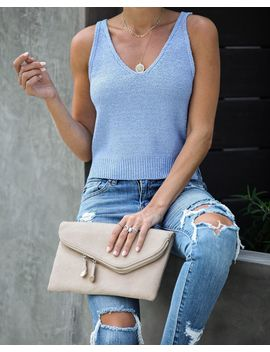 With Layers Crop Knit Tank by Vici