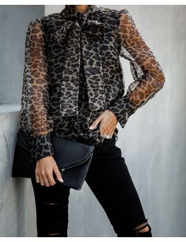 Wild Card Leopard Statement Blouse by Vici