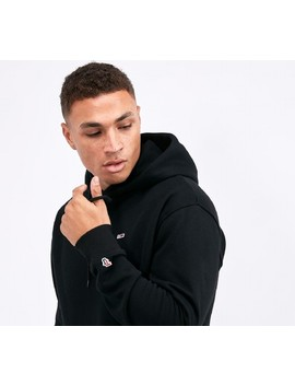 Classic Flag Logo Hooded Top | Black by Tommy Jeans