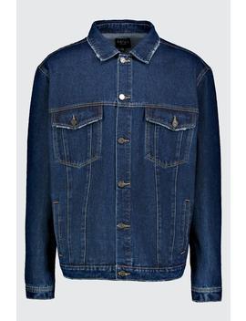 Big & Tall Denim Western Jacket by Boohoo