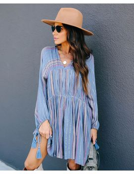 Happily Ever Laughter Woven Tassel Dress by Vici