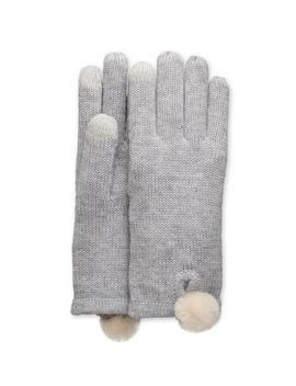 Smart Glove With Fur Pom by Ugg