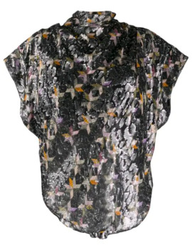Printed Metallic Blouse by Isabel Marant