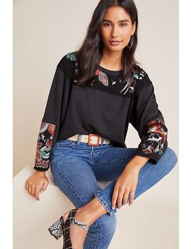 Estelle Embroidered Pullover by Burning Torch