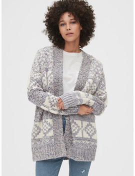 Wool Blend Fair Isle Cardigan by Gap