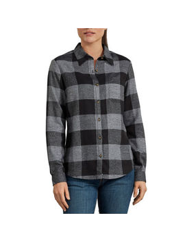 Dickies® Long Sleeve Flannel Plaid Shirt by Dickies