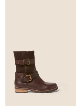 Fat Face Brown Baildon Biker Boots by Next