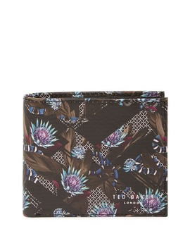 Buttun Printed Leather Bifold Wallet by Ted Baker London