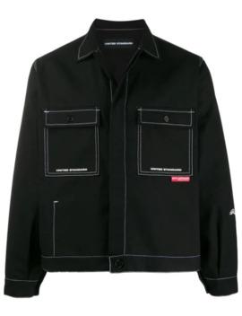 Contrast Stitch Shirt Jacket by United Standard