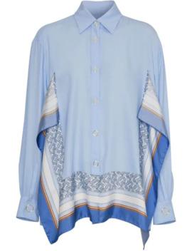 Print Trim Shirt by Burberry
