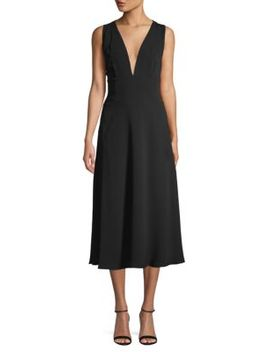 Crisscross Self Tie Midi Dress by Bcbgmaxazria