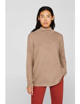 Oversize Pullover Mit Ripp Struktur by Esprit