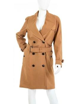 Burberry Cranston Wool Blend Trench Coat by Burberry
