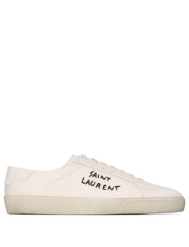 Court Classic Logo Embroidery Sneakers by Saint Laurent
