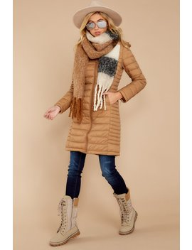 Colorado Cutie Beige Puffer Jacket by Love Tree