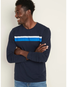 Soft Washed Chest Stripe Long Sleeve Tee For Men by Old Navy