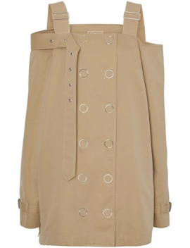 Cotton Gabardine Deconstructed Trench Dress by Burberry