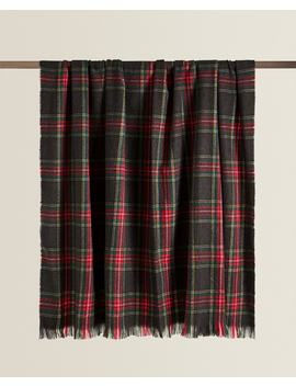 Plaid Blanket With Fringe  Holidays   Bedroom by Zara Home