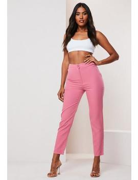 Black Co Ord Basic Cigarette Trousers by Missguided