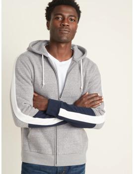 Color Block Sleeve Zip Hoodie For Men by Old Navy